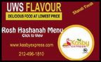Check out the Kasbah Rosh Hashana menu