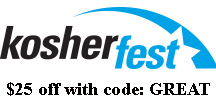 Get $25 off Kosherfest Registration