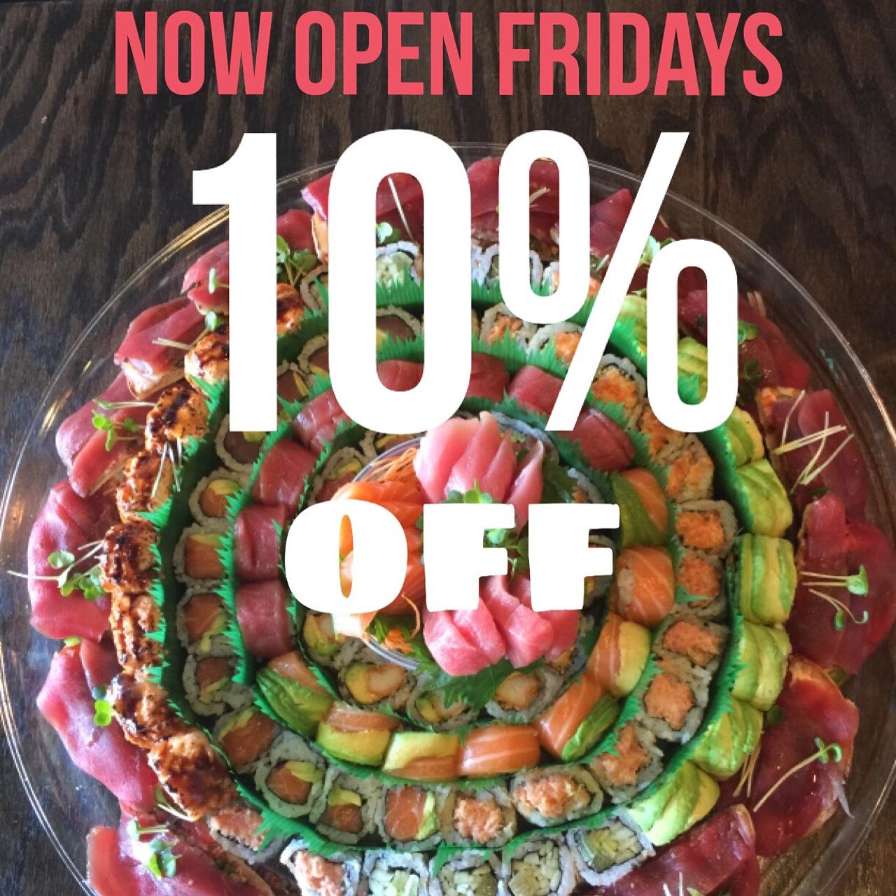 Backyard Coney Island Menu day 5 sushi - great kosher restaurants
